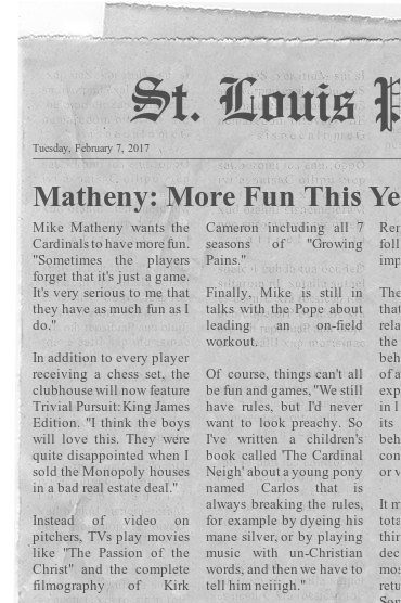 Matheny Fun